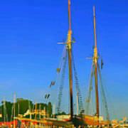 Sailing In Maine Art Print