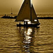 Sailing In Sepia Art Print