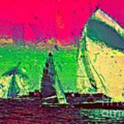Sailing In Shimmer Art Print