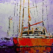 Sailing In The Mist Art Print by Vickie Warner