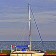 Sailing In Volendam Art Print
