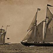 Sailing Into The Past Art Print