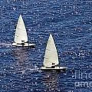Sailing Art Print by Lars Ruecker