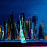 Sailing New York 3 Art Print