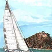 Bay Of Islands Sailing Sailing Art Print