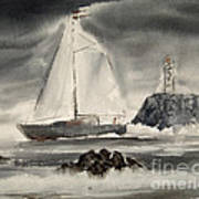 Sailing On A Grey Day Art Print