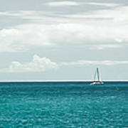 Sailing On A Turquoise Sea Art Print by Jason Bartimus