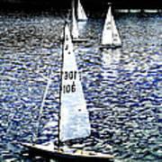 Sailing On Blue Art Print