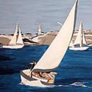 Sailing On San Francisco Bay Art Print