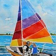 Sailing On The Choptank Art Print