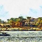 Sailing On The Nile Art Print