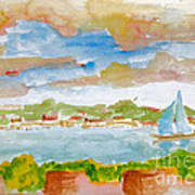 Sailing On The River Art Print
