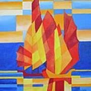 Sailing On The Seven Seas So Blue Art Print by Tracey Harrington-Simpson
