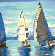 Sailing Regatta At Port Hardy Art Print