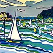 Sailing School Manchester by-the-sea Art Print