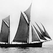 Sailing Ship Ketch, 1876 Art Print