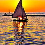 Sailing Silhouette Art Print