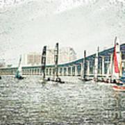 Sailing Sketch Photo Art Print