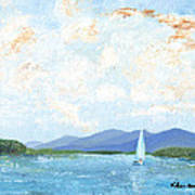 Sailing The Lake 2 Art Print
