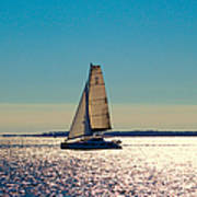 Sailing The Ocean Blue Art Print