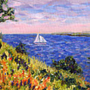Sailing Through Belfast Maine Art Print