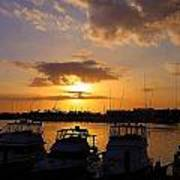 Sailing To Sunset Art Print