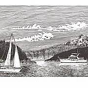 Sailing Mount Hood Oregon Art Print