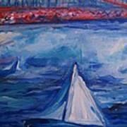 Sailing Under The Golden Gate Art Print