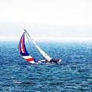 Sailing Vinyard Sound  Photo Art Art Print