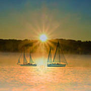 Sailing When The Sun Comes Up Art Print