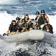 Sailors Conduct Maneuvers Art Print