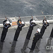 Sailors Fire A 21-gun Salute Art Print