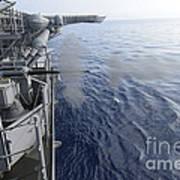 Sailors Fire A 25mm Machine Gun Aboard Art Print