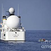 Sailors In A Rigid-hull Inflatable Art Print