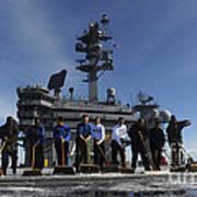Sailors Participate In A Fight Deck Art Print