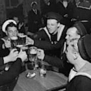 Sailors Toasting In Celebration Of Victory Art Print