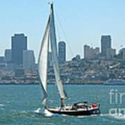 Sailors View Of San Francisco Skyline Art Print