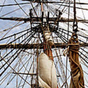 Sails Aboard The Hms Bounty Art Print