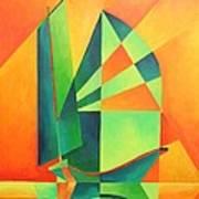 Sails At Sunrise Art Print