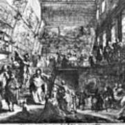 Saint-aubin Louvre, 1753 Art Print