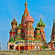 Saint Basil Cathedral In Red Square In Moscow- Russia Art Print