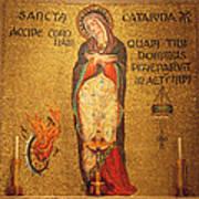 Saint Catherine Of Alexandria Altar Art Print