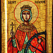 Saint Catherine Of Alexandria Icon Art Print