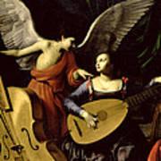 Saint Cecilia And The Angel Art Print