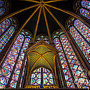 Saint Chapelle Windows Art Print