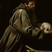 Saint Francis In Meditation Art Print