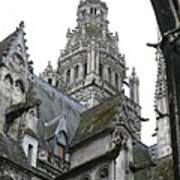 Saint Gatien's Cathedral Steeple Art Print