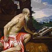 Saint Jerome In The Wilderness Art Print