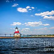 Saint Joseph Lighthouse And Pier Picture Art Print