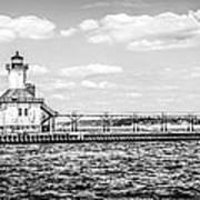 Saint Joseph Lighthouse Retro Panoramic Photo Art Print